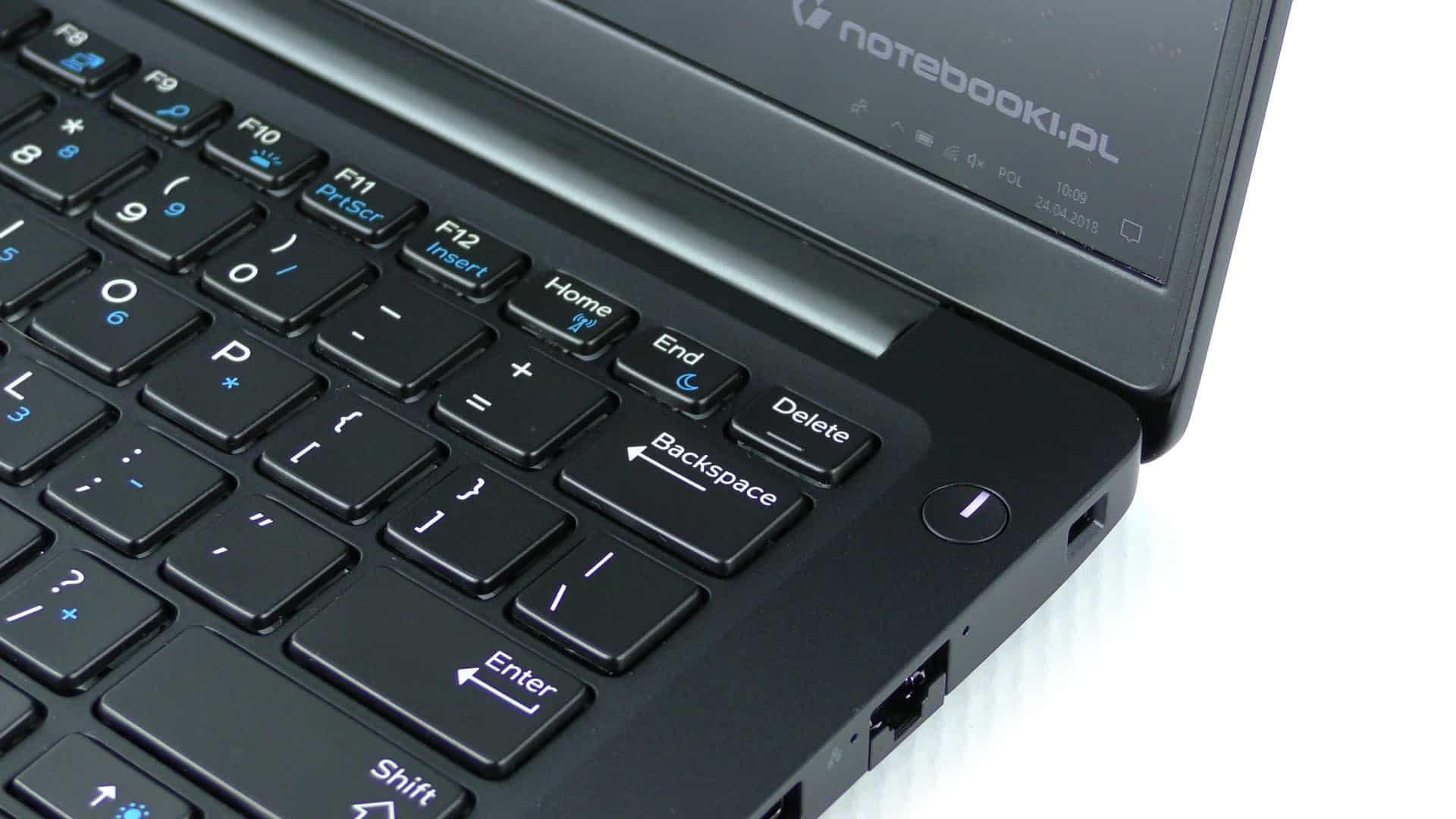 Dell Latitude 7390 - klawiatura i przycisk zasilania
