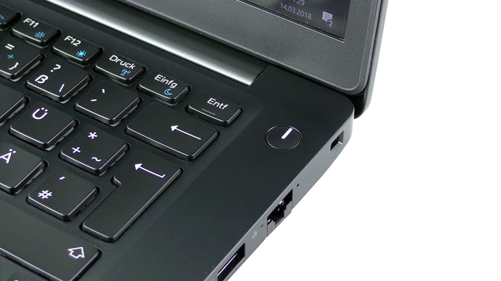 Dell Latitude 7490 - przycisk zasilania