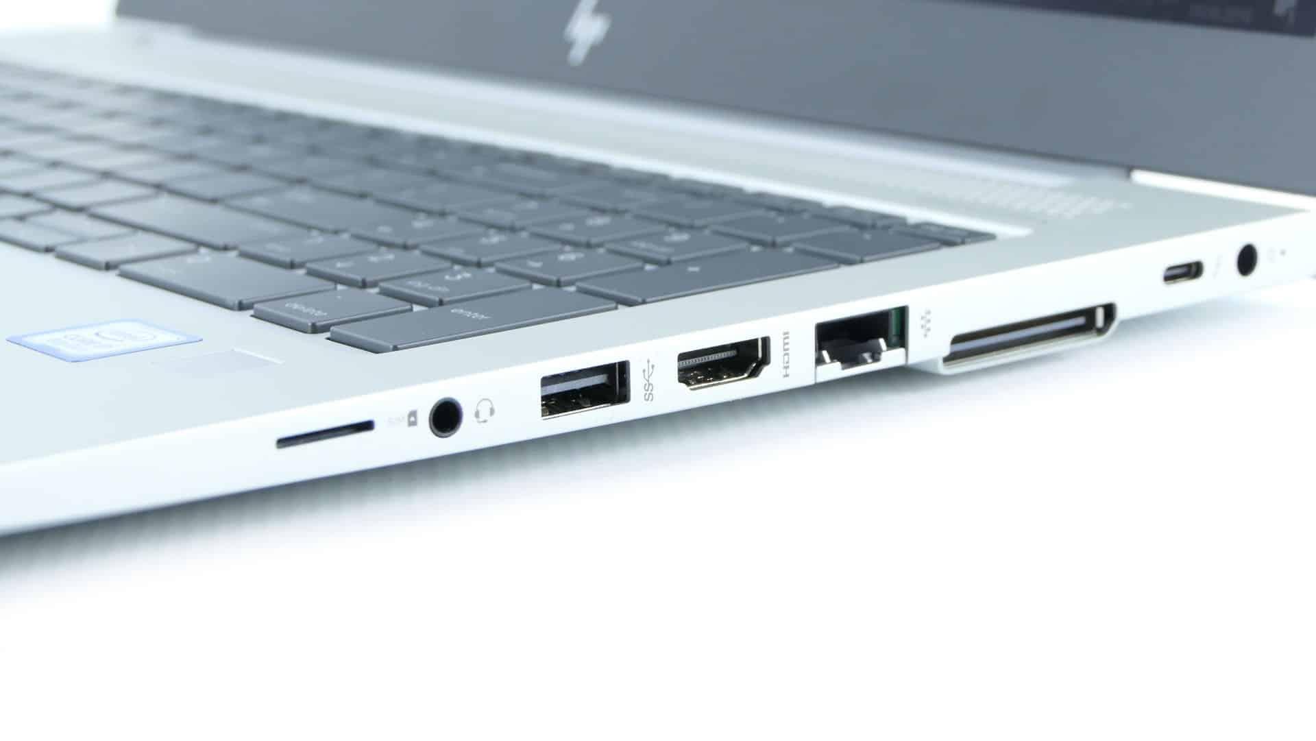 HP EliteBook 850 G5 - gniazdo SIM, port audio,  USB 3.0, HDMI, LAN, gniazdo dokowania, Thunderbolt 3
