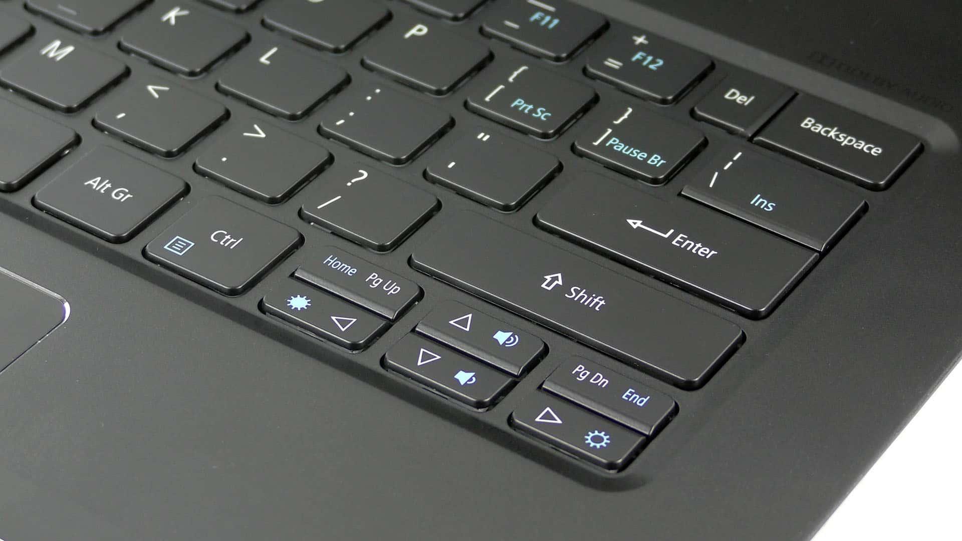 Acer Swift 7 2018 - klawiatura