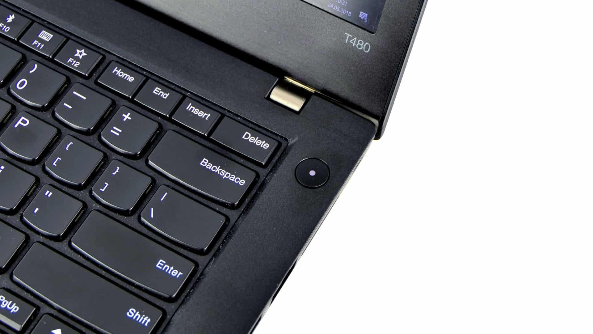 Lenovo ThinkPad T480 - prawa strona pulpitu