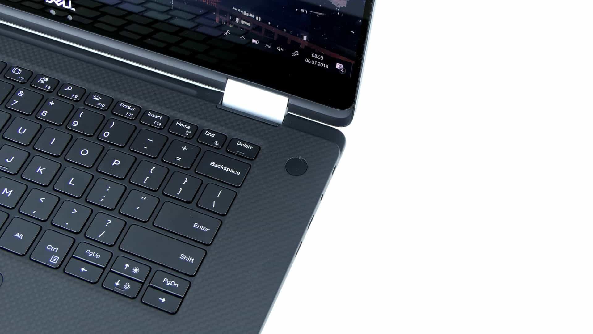 Dell XPS 15 9575 2 w 1 - prawa strona pulpitu