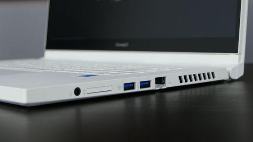 Acer ConceptD 3 Ezel (15) - port LAN, dwa USB 3.0, czytnik kart SD, gniazdo audio