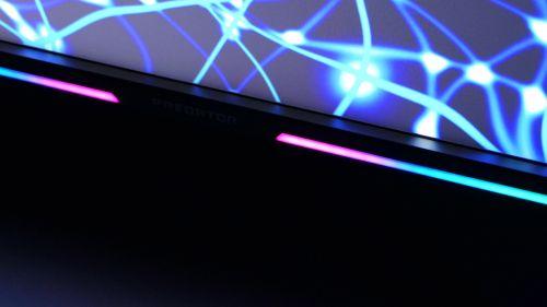 Acer Predator XB3 (XB273U) - światło zpasków LED nierazi ani nieprzeszkadza nawet pozmroku