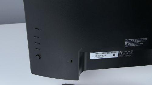 Acer Predator XB3 (XB273U) - przyciski idżojstik doobsługi menu