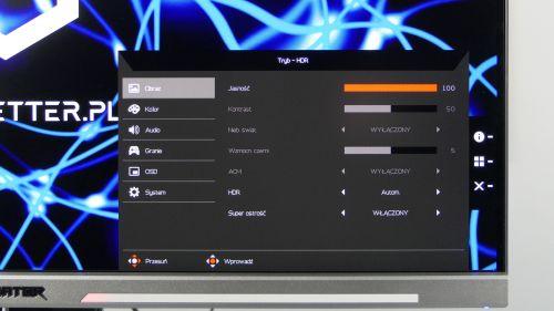 Acer Predator XB3 (XB273U) - podstawowe ustawienia obrazu