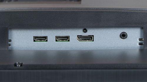 Acer Predator XB3 (XB273U) - bateria złączy wideo + jack dla głośników/słuchawek
