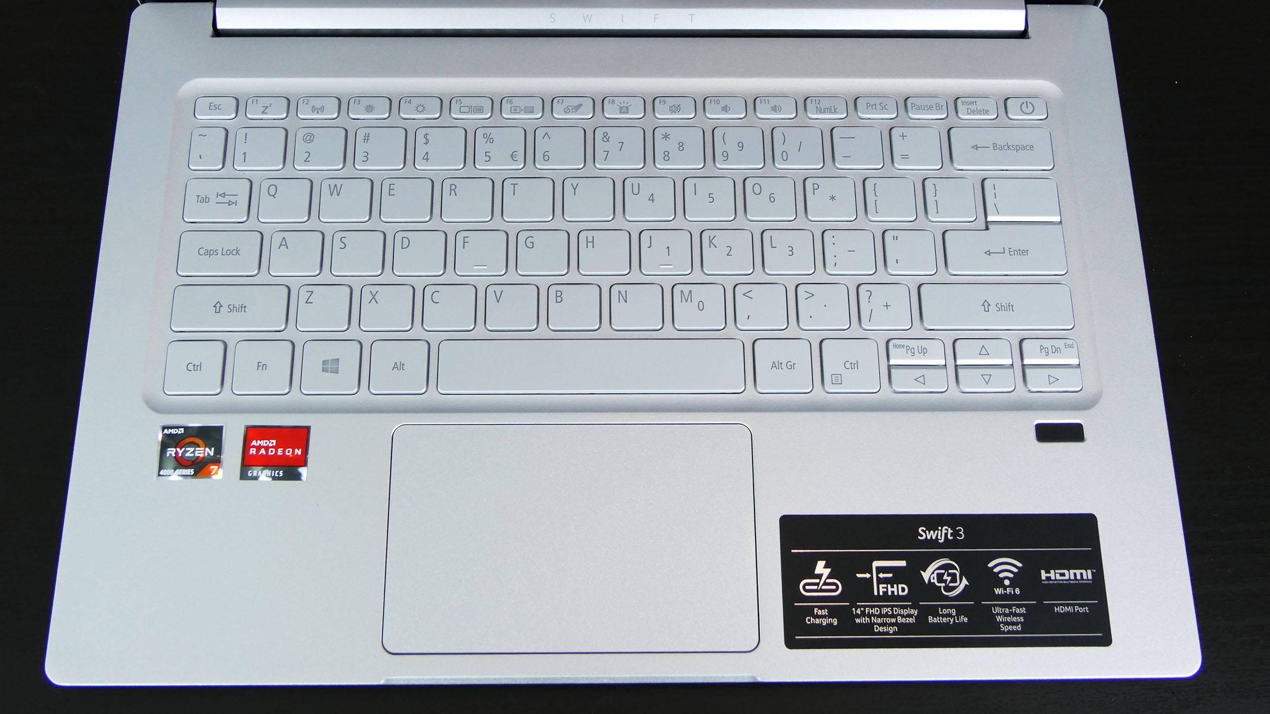 Acer Swift 3 - pulpit
