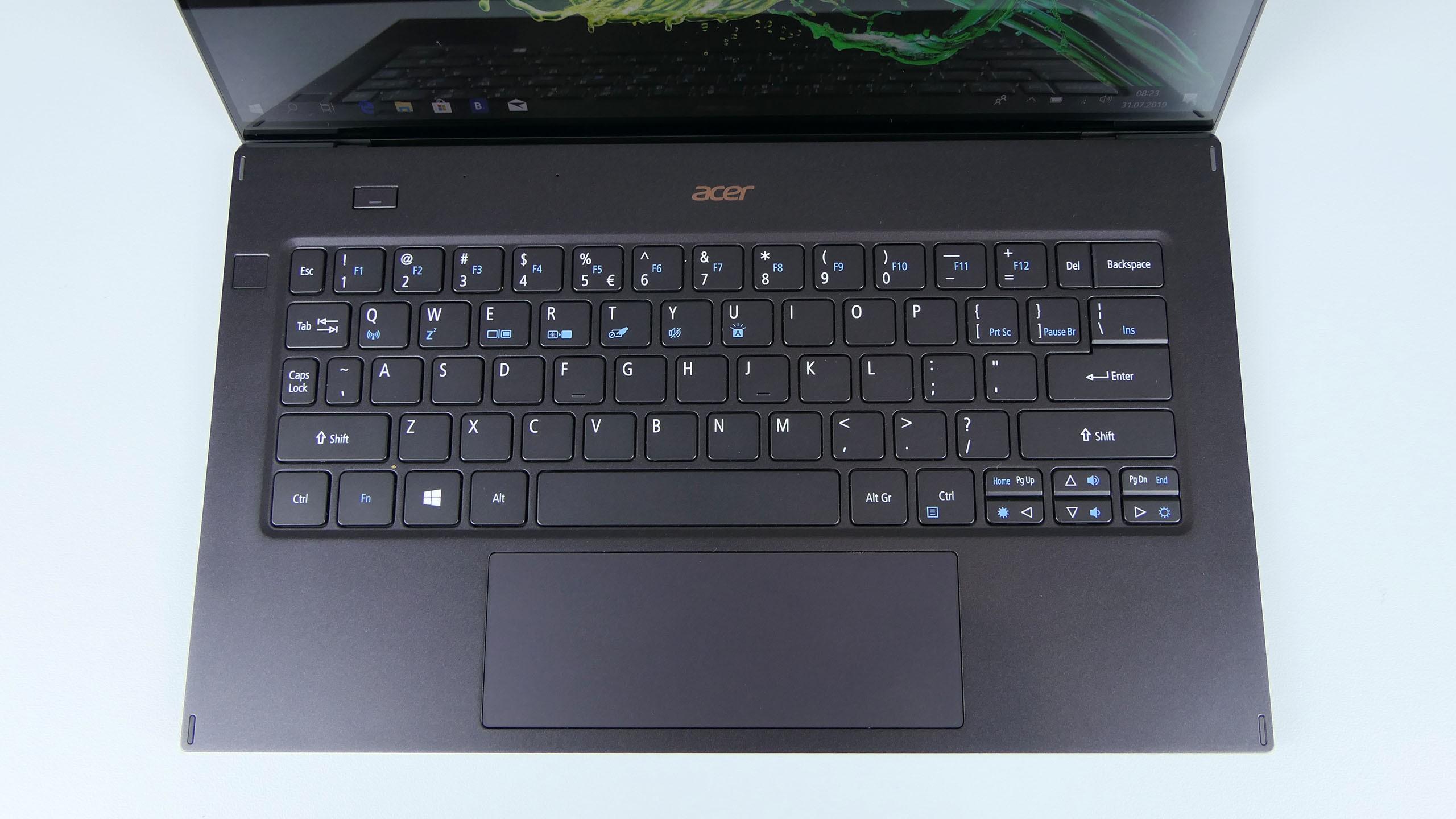 Acer Swift 7 2019 - pulpit roboczy