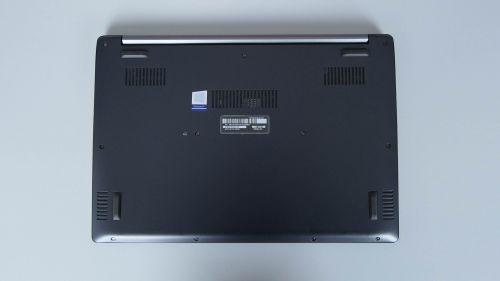 Acer TravelMate X5 - spód komputera