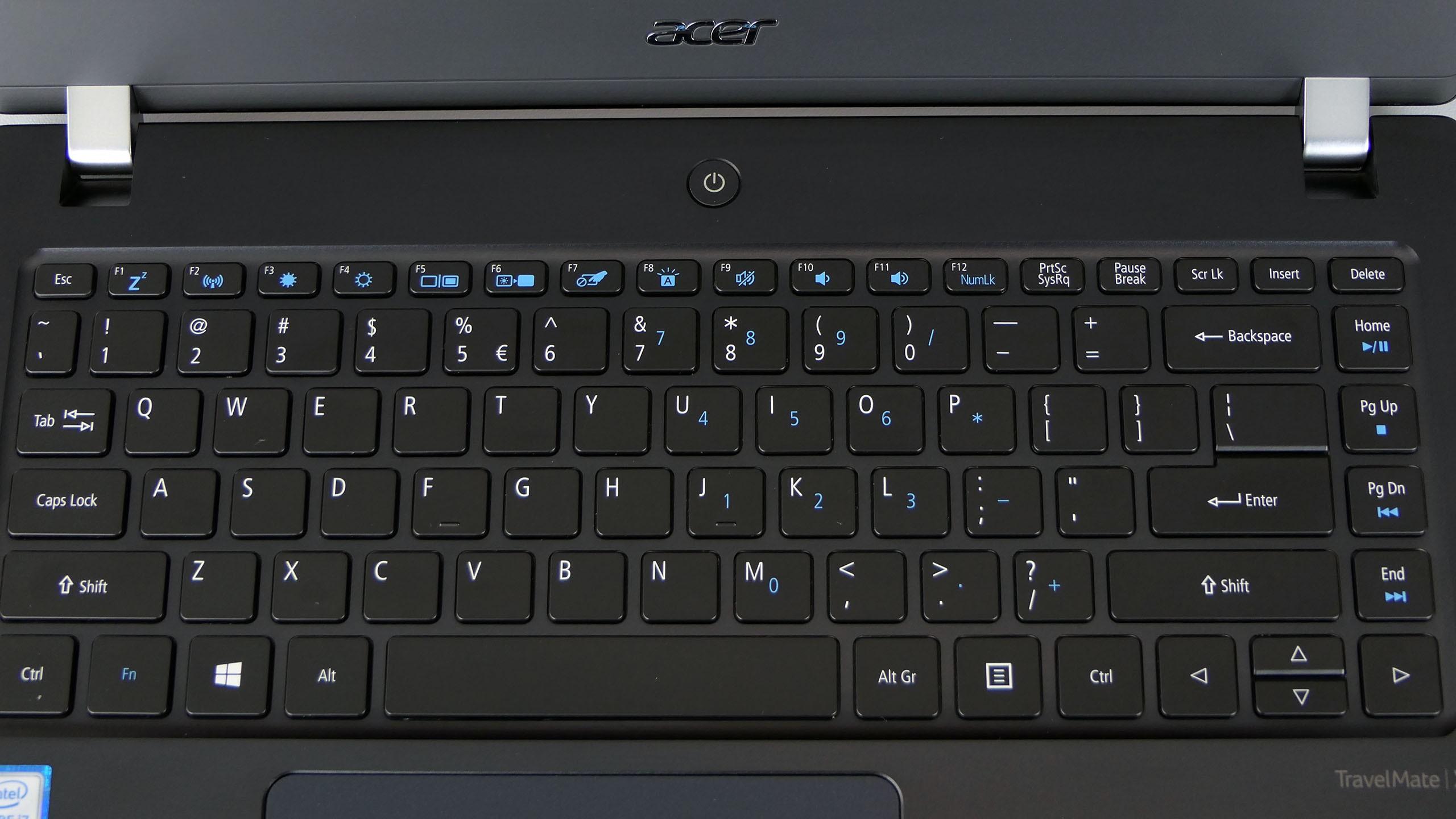 Acer TravelMate X3410 - podświetlana klawiatura