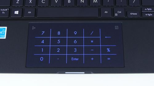 Asus ExpertBook B9450F - touchpad zwłączonym NumPadem