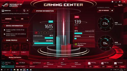 Oprogramowanie Gaming Center