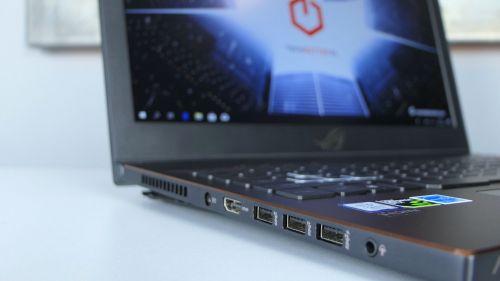 Asus ROG Zephyrus M (GM501) - chłodzenie, gniazdo zasilania, HDMI, trzy USB 3.0, port audio