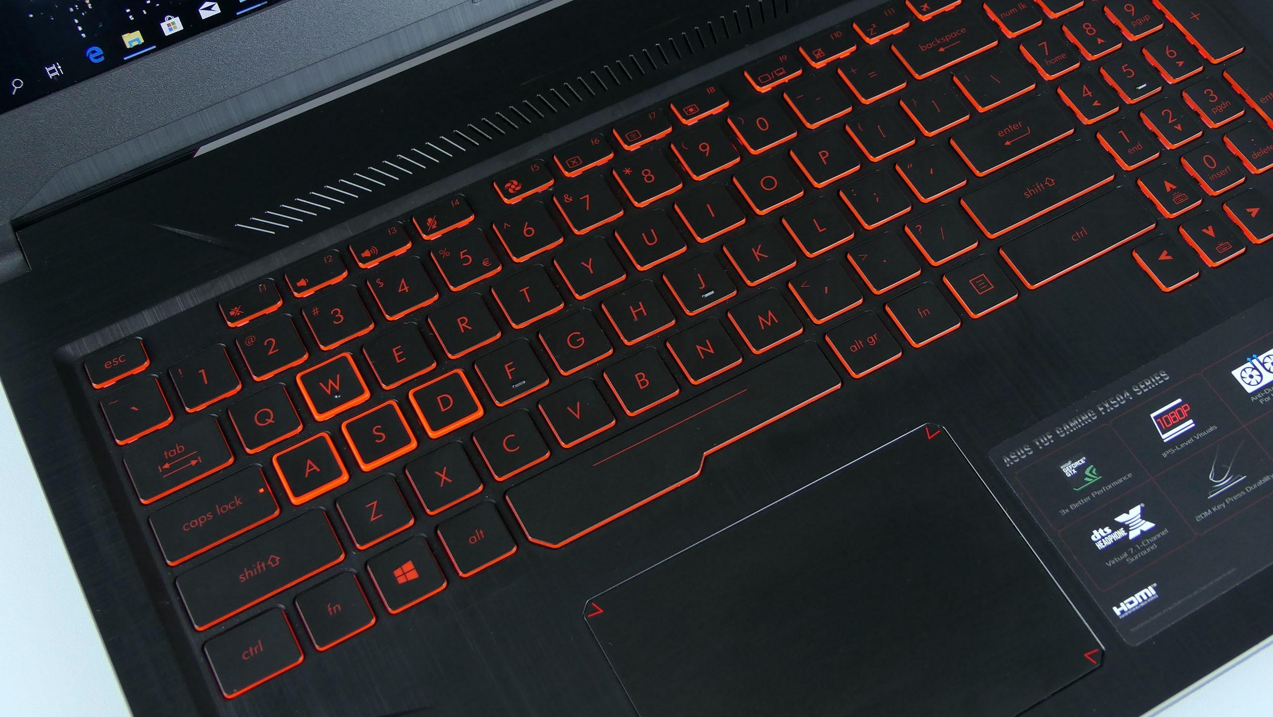 Asus TUF Gaming FX504 - klawiatura
