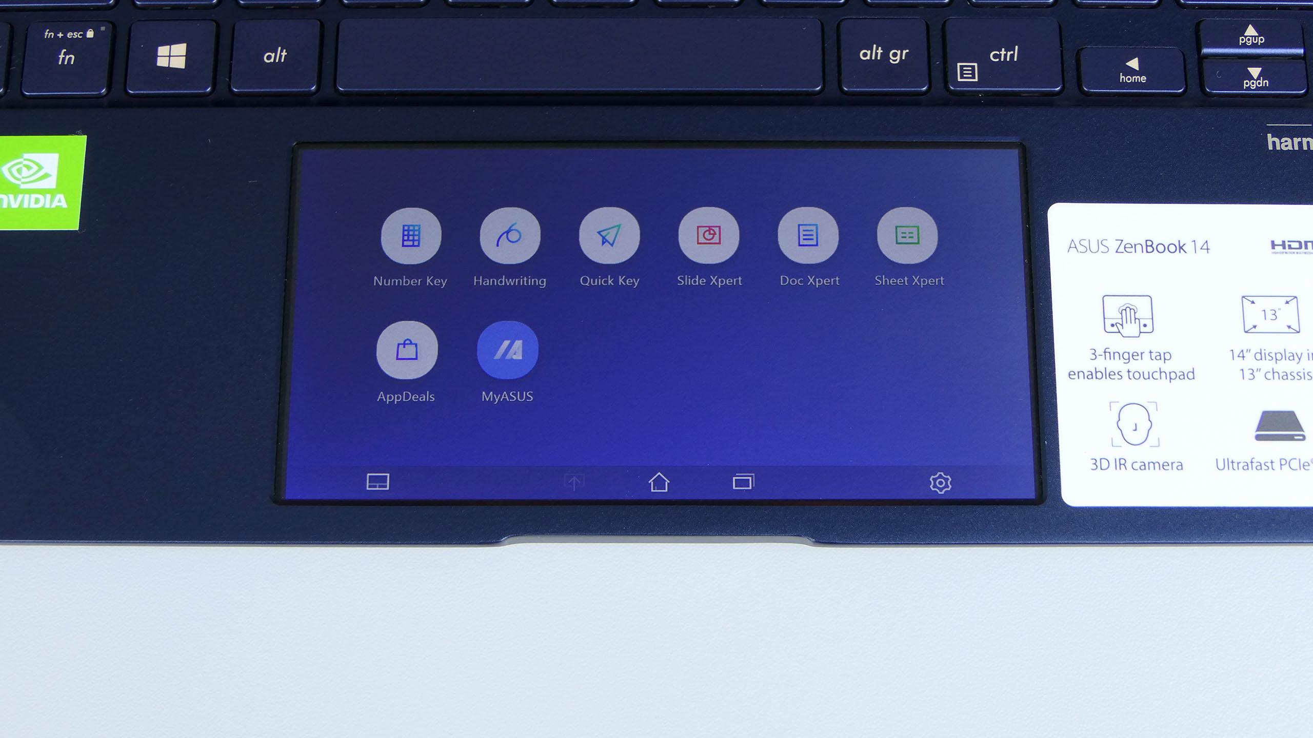 ScreenPad 2.0 - okno główne