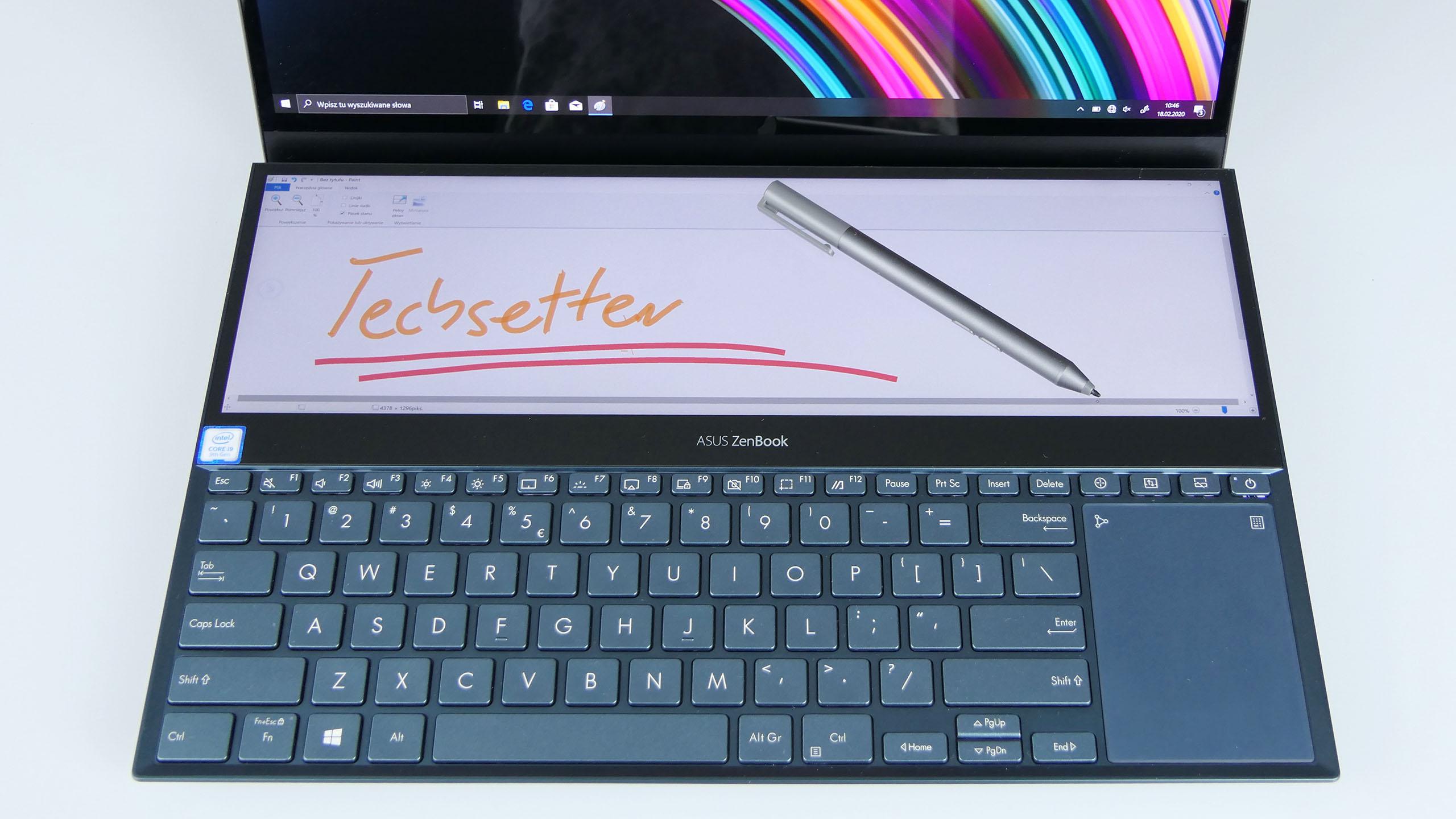 Asus ZenBook Pro Duo - pulpit roboczy