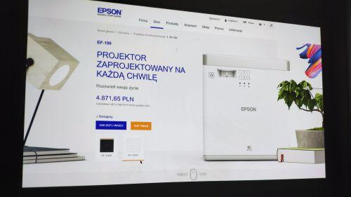 Epson EF-100W - przeglądanie stron WWW