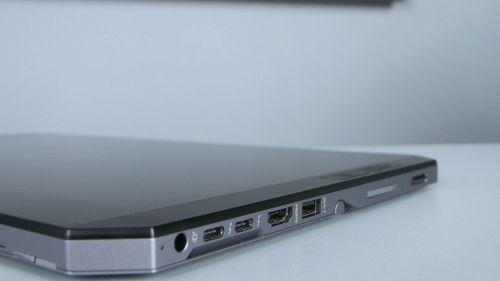HP ZBook x2 G4 - gniazdo zasilanie, dwa Thunderbolt 3, HDMI, USB 3.0