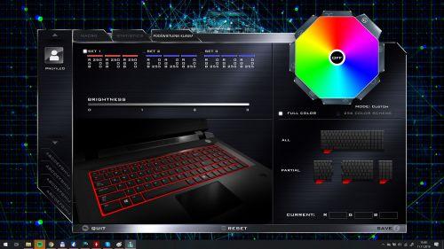 Control Center - ustawienia klawiatury