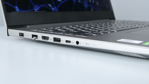 Lenovo ThinkBook 15p - zdecydowana większość portów znajduje się nalewym boku