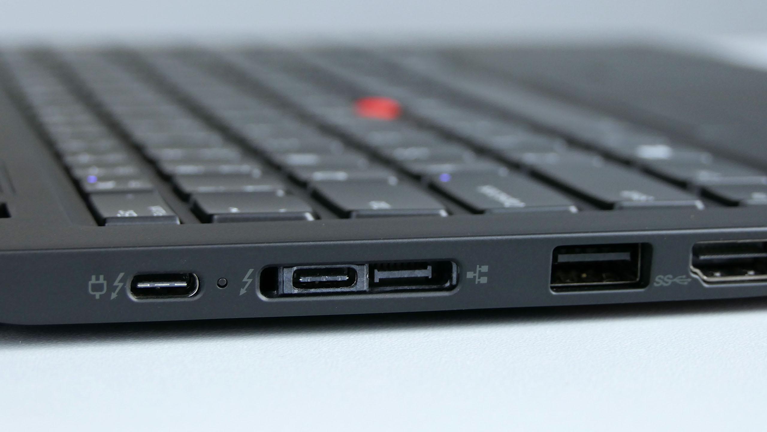 Lenovo ThinkPad X1 Carbon 7th gen - porty zlewej strony