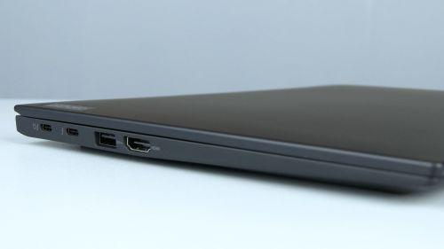 Lenovo ThinkPad X1 Carbon Gen 9 - porty zlewej strony: 2x Thunderbolt 4, USB 3.2 gen 1, HDMI