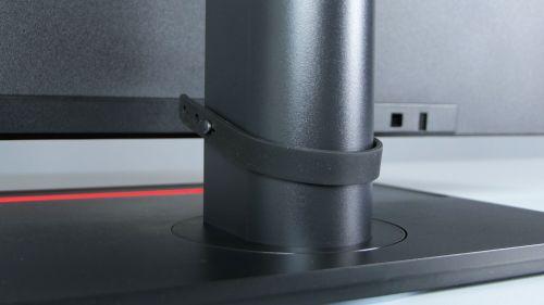 Lenovo ThinkVision P32p-20 - gumowa opaska nakable średnio tu pasuje