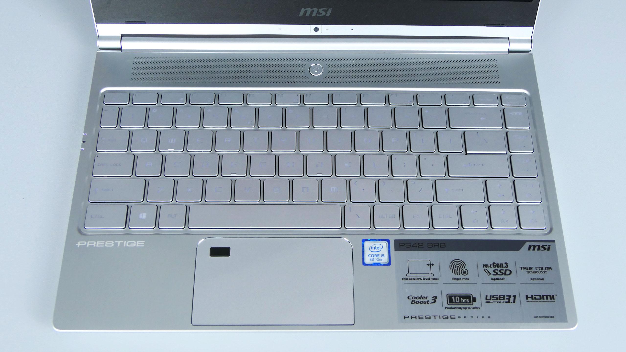 MSI PS42 Prestige - pulpit roboczy