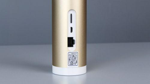 Netatmo Indoor Camera - slot nakartę microSD, micro-USB igniazdo RJ-45.