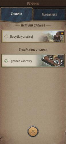 W grze znajdziemy znany zinnych gier RPG dziennik, wktórymznajdziemy aktywne zadania