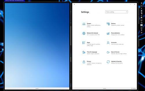 Menu ustawień systemowych wygląda znajomo - czysty Windows 10