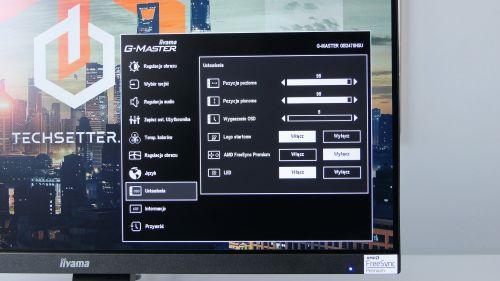 iiyama G-Master Red Eagle GB2470HSU-B1 - opcja FreeSync Premium schowała się wustawieniach OSD
