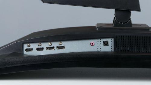 iiyama G-Master Red Eagle GB3266QSU - 2x HDMI, 2x DisplayPort, jack 3,5 mm, zasilanie
