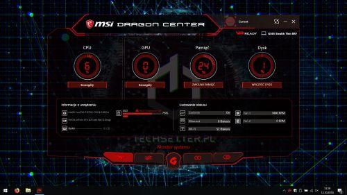 MSI Dragon Center - monitor systemu