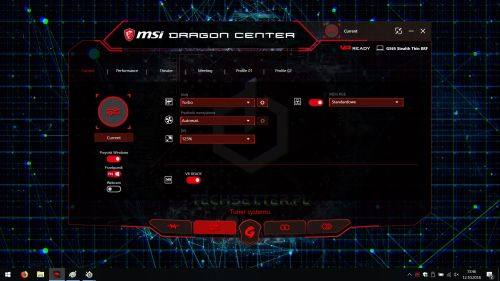 MSI Dragon Center - gotowe profile użytkownika