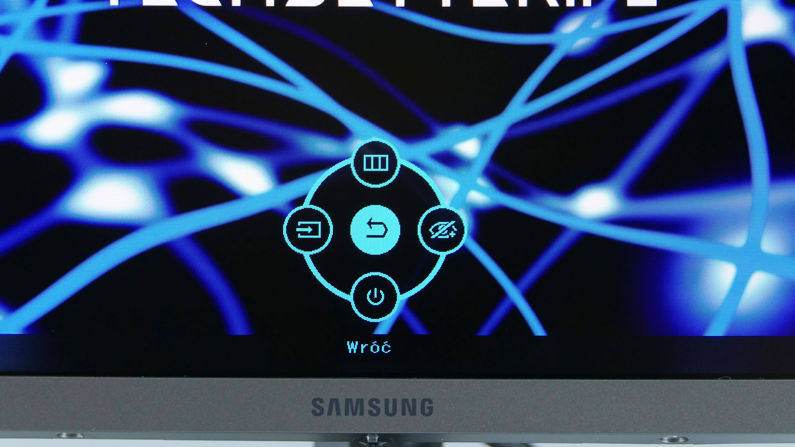 Samsung LC27JG50QQUXEN - szybkie menu