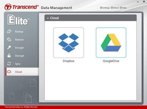 Dane można w prosty sposób przesłać do wybranej chmury danych